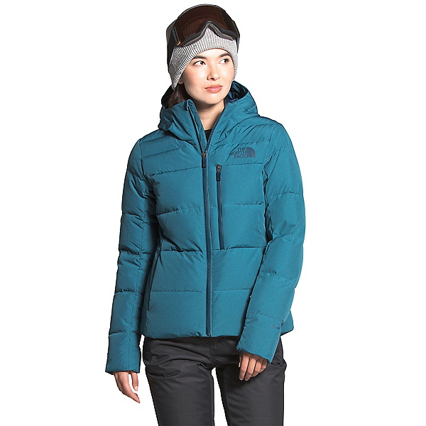 The North Face Heavenly Down Womens Insulated Ski Jacket, Mallard Blue Heather, 600