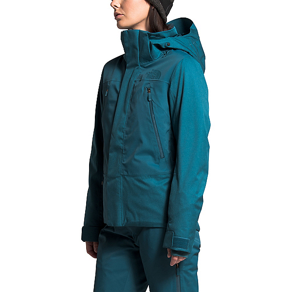 The North Face Lenado Womens Shell Ski Jacket, Mallard Blue Heather-Mallard B, 600