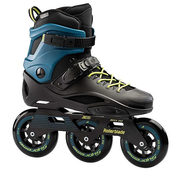Rollerblade RB 110 3WD Urban Inline Skates, Black-Blue, 600