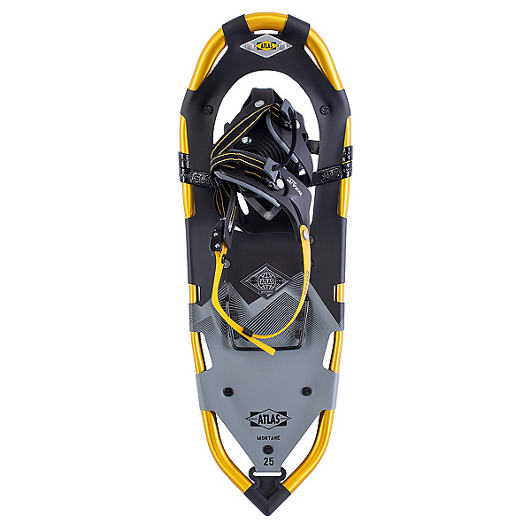Atlas Montaine Backcountry Snowshoes, Black-Yellow, 600