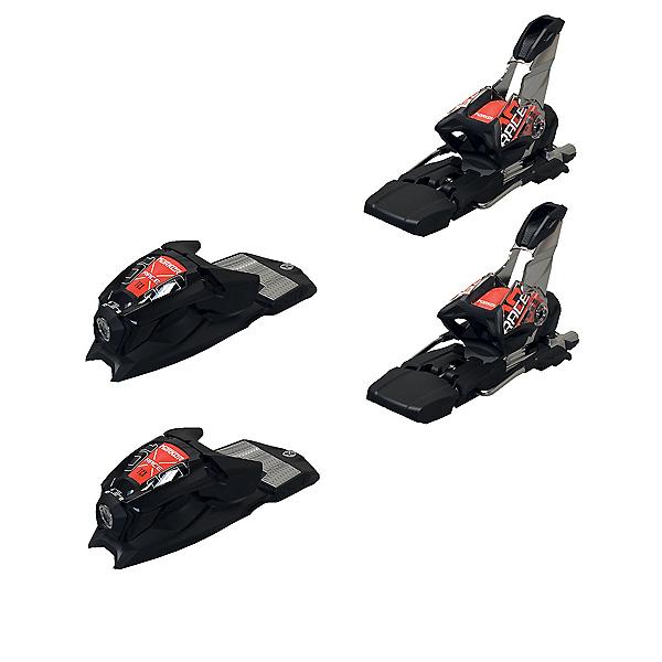 Marker Race 10 TCX Junior Ski Bindings, Black-Flo Red, 600