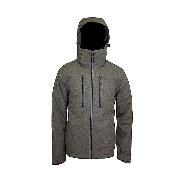 Turbine Ollie Mens Insulated Snowboard Jacket 2021, Khaki, 600