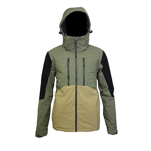 Turbine Shralp Mens Insulated Snowboard Jacket 2022, Tank Green, 600