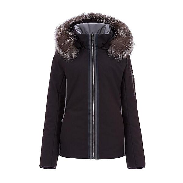 FERA Danielle III Faux Fur Womens Insulated Ski Jacket, Black-Anthracite, 600