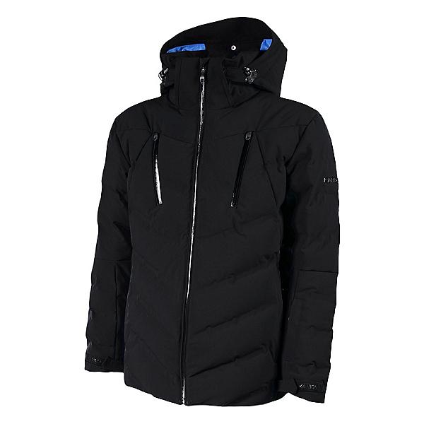 Karbon Sten Mens Insulated Ski Jacket, Black-Black-Black, 600