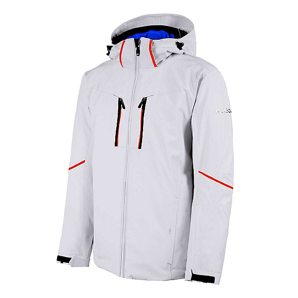 Karbon Pirmin Mens Insulated Ski Jacket, White-Black-Eclipse, 600
