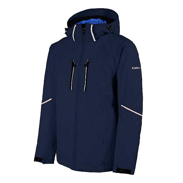 Karbon Pirmin Mens Insulated Ski Jacket, Eclipse-Black-White, 600