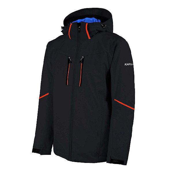 Karbon Pirmin Mens Insulated Ski Jacket, Black-Black-Eclipse, 600