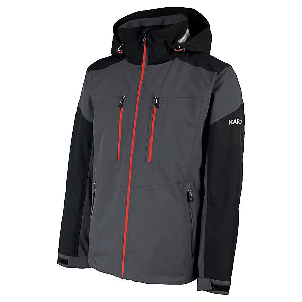 Karbon Hydrogen Mens Insulated Ski Jacket, Anvil-Black-Red, 600