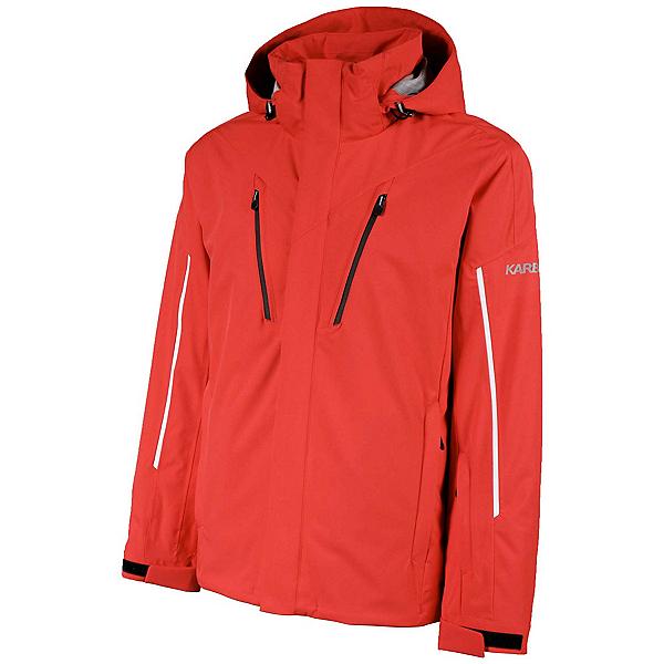 Karbon Helium Mens Insulated Ski Jacket, Red-Black-Glacier-Red, 600