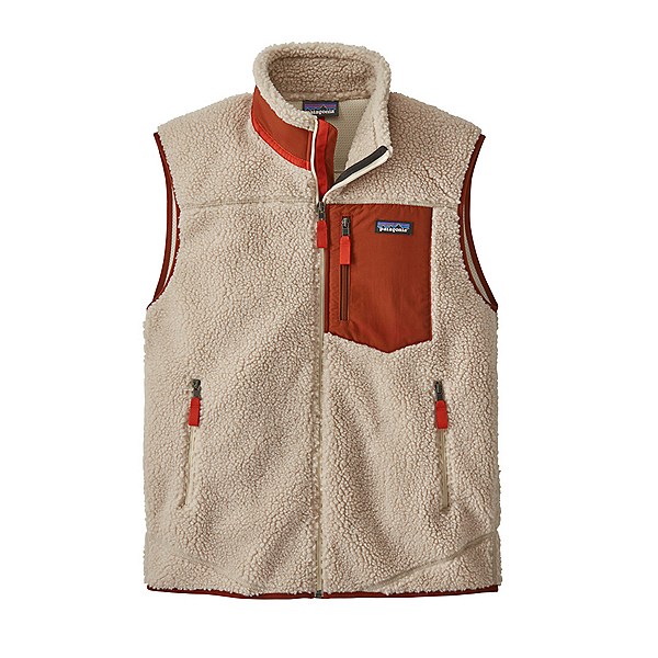 Patagonia Classic Retro-X Mens Vest 2021, Natural W-Barn Red, 600