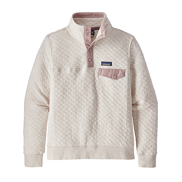 Patagonia Cotton Quilt Snap-T Womens Pullover 2021, Dyno White W-Hazy Purple, 600