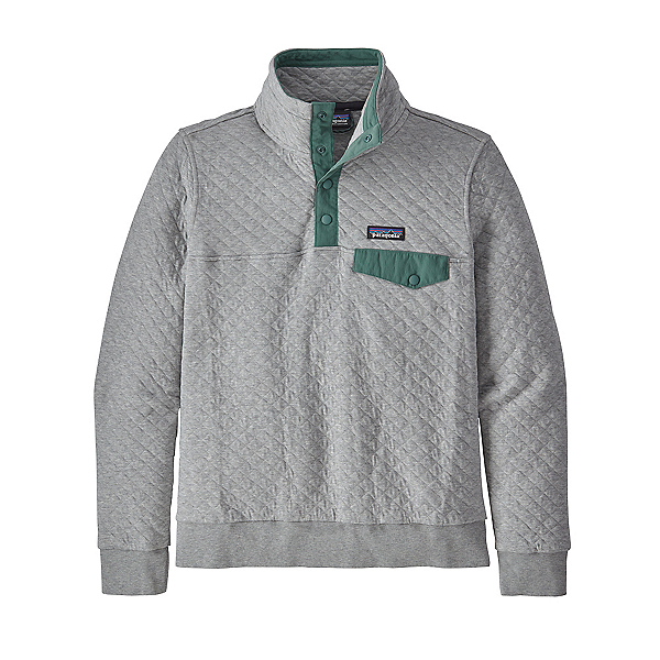 Patagonia Cotton Quilt Snap-T Womens Pullover 2021, Salt Grey, 600