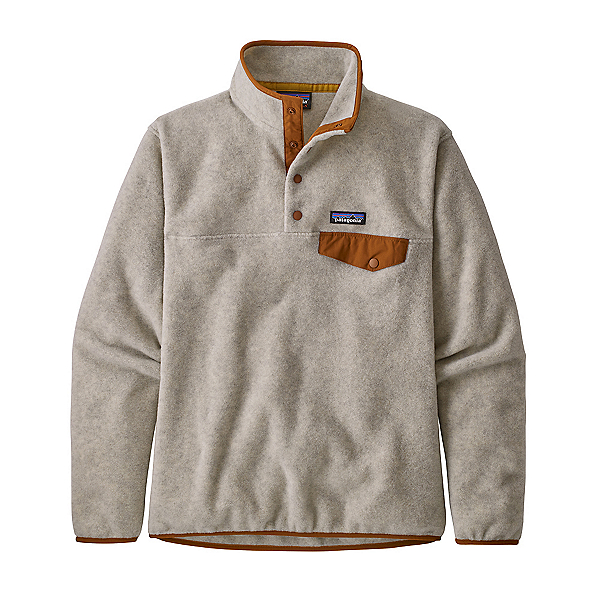 Patagonia Lightweight Synchilla Snap-T Womens Pullover 2021, Oatmeal Heather W-Wood Brown, 600