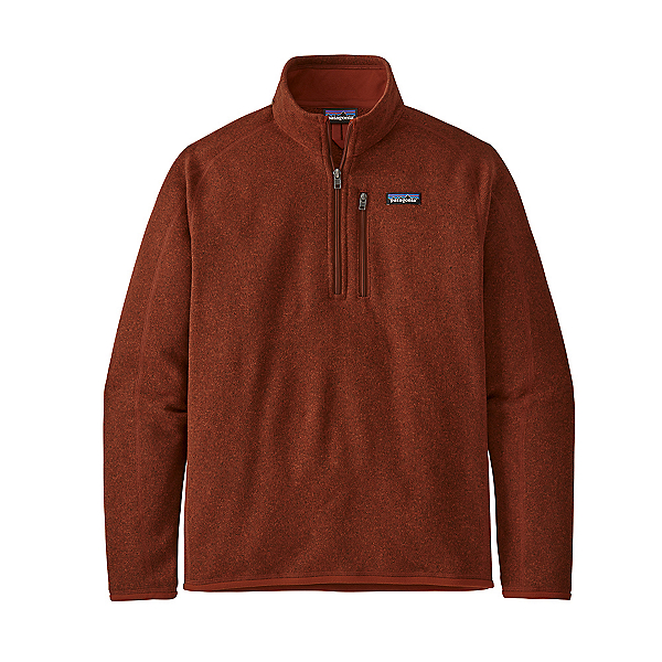 Patagonia Better Sweater 1/4 Zip Mens Mid Layer 2021, Barn Red, 600