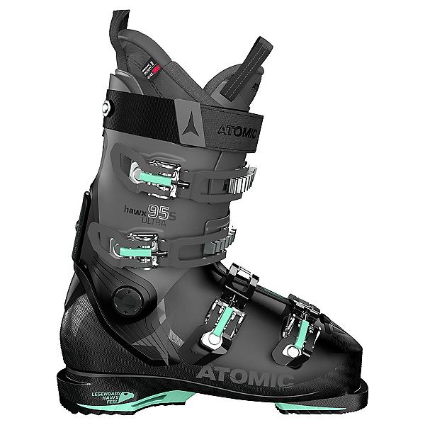 Atomic Hawx Ultra 95 S Womens Ski Boots, Black-Anthracite-Mint, 600