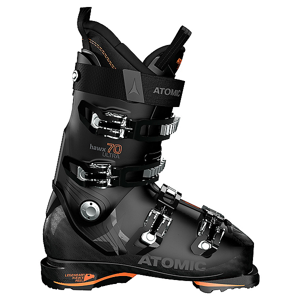 Atomic Hawx Ultra 70 GW Kids Ski Boots, Black-Orange, 600