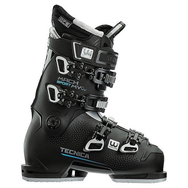 Tecnica Mach Sport 85 MV Womens Ski Boots 2022, Black, 600