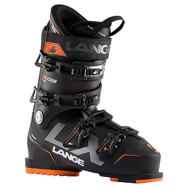 Lange LX 130 Ski Boots, Black-Orange, 600