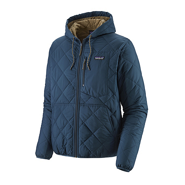 Patagonia Diamond Quilt Bomber Mens Hoodie 2021, Stone Blue, 600