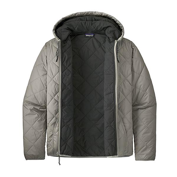 Patagonia Diamond Quilt Bomber Mens Hoodie 2021, Salt Grey, 600
