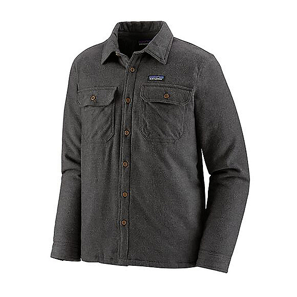 Patagonia Insulated Fjord Flannel Shirt, Forge Grey, 600