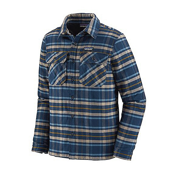 Patagonia Insulated Fjord Flannel Shirt 2022, Independence New Navy, 600