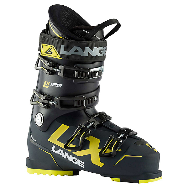 Lange LX 120 Ski Boots, Deep Blue-Yellow, 600