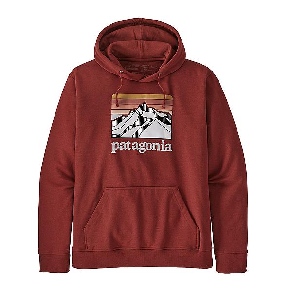 Patagonia Line Logo Ridge Uprisal Mens Hoody 2021, Barn Red, 600