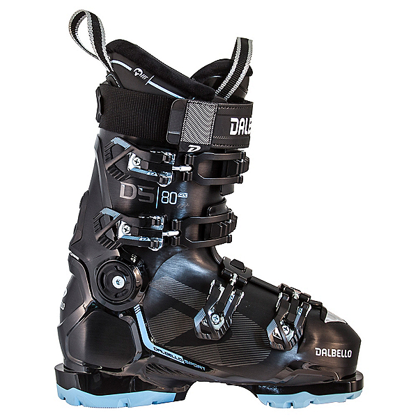 Dalbello DS AX 80 Womens Ski Boots, Black-Pastel Blue, 600