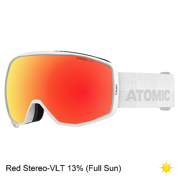 Atomic Count Stereo Goggles, White-Red Stereo, 600