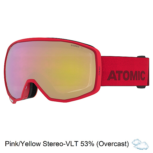 Atomic Count Stereo Goggles, Red-Pink Yellow Stereo, 600