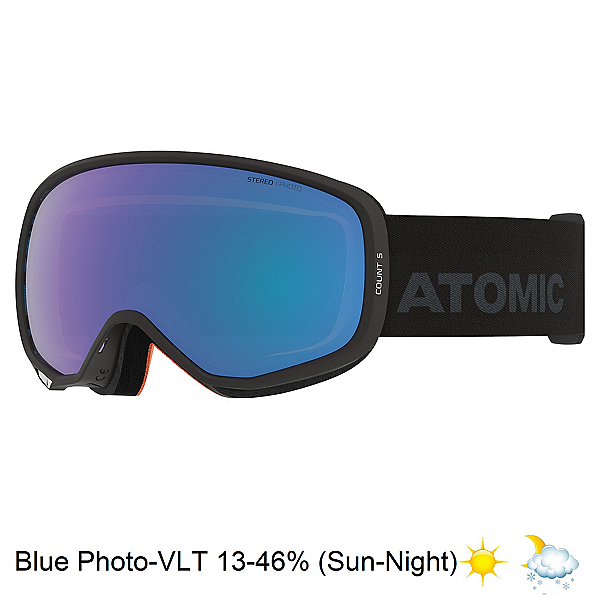 Atomic Count S Photochromic Goggles, Black-Blue Photo, 600
