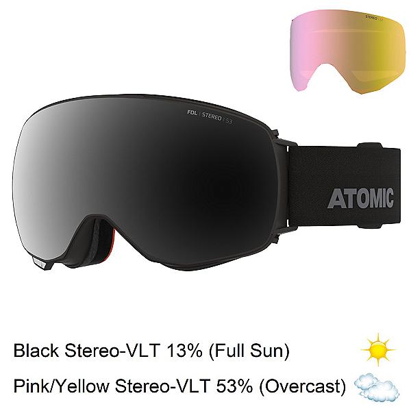 Atomic Revent Q Stereo Goggles, Black-Black Stereo + Bonus Lens, 600