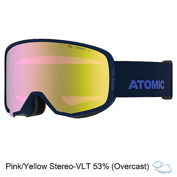 Atomic Revent Stereo OTG Goggles, Blue-Pink Yellow Stereo, 600