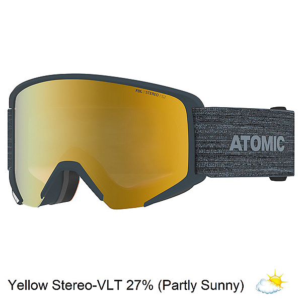 Atomic Savor Big Stereo Goggles, Grey-Yellow Stereo, 600