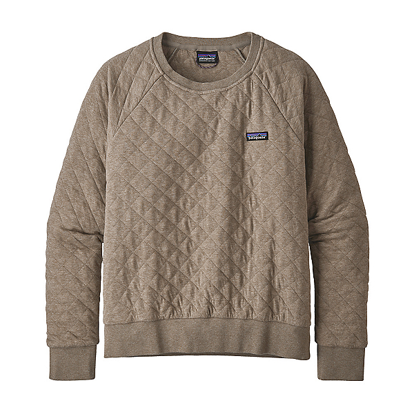 Patagonia Organic Cotton Quilt Womens Crew 2021, Furry Taupe, 600