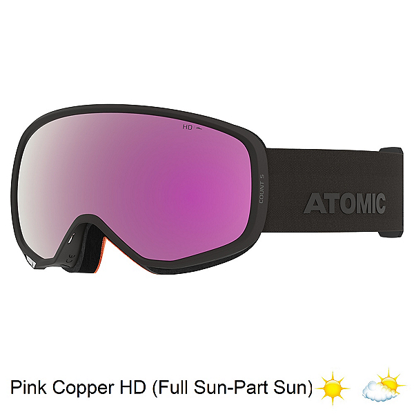 Atomic Count S HD Goggles, Black-Pink Copper Hd, 600