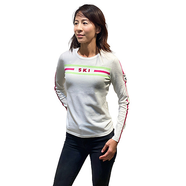 Meister SKI Womens Sweater 2022, White Cloud-Hot Pink-Lime, 600