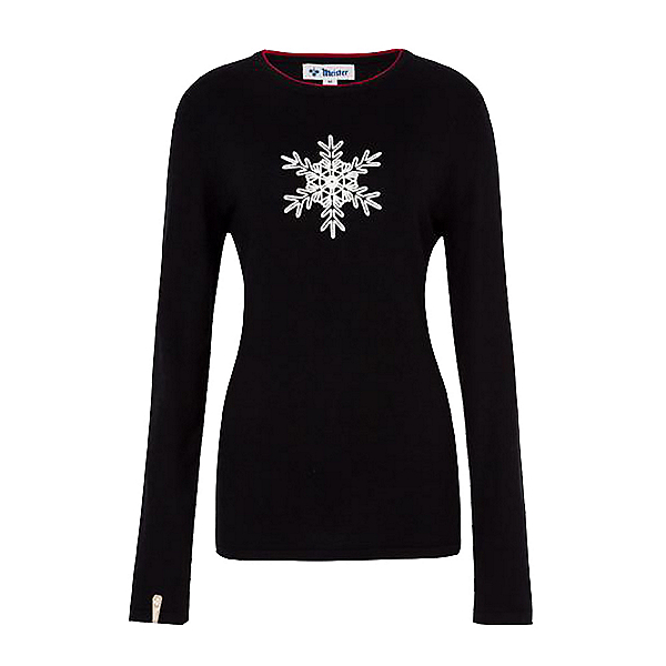 Meister Noel Womens Sweater 2021, Black-Red, 600