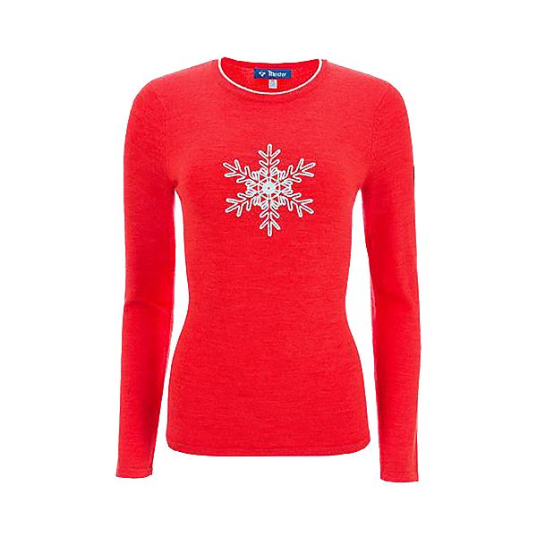 Meister Noel Womens Sweater 2021, Lava Heather-Winter White, 600