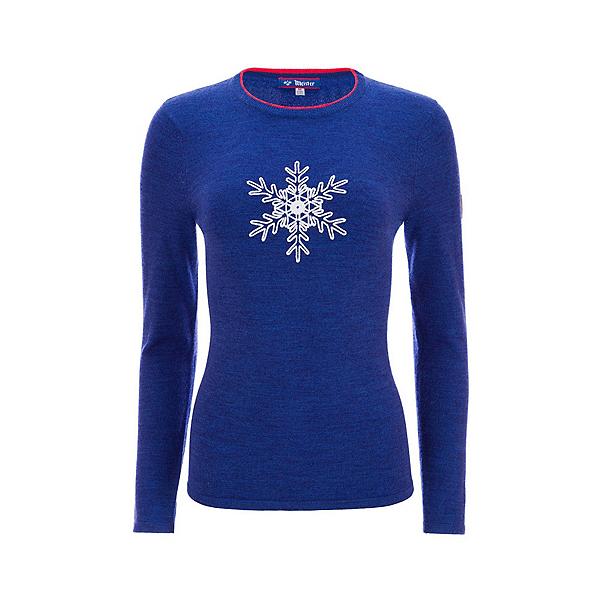 Meister Noel Womens Sweater 2022, Blue Heather-Lava, 600