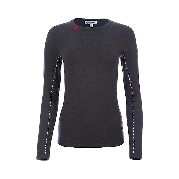 Meister Piste Womens Sweater 2021, Charcoal-Wedgewood-Guava, 600
