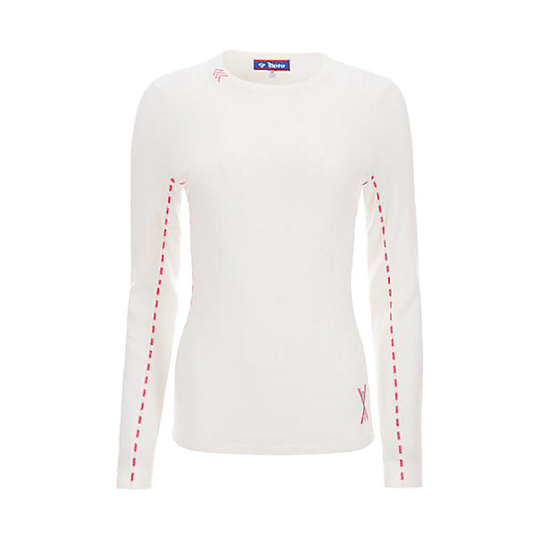Meister Piste Womens Sweater 2021, Winter White-Wedgewood-Guava, 600