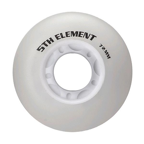 5th Element 72mm Light Up Inline Skate Wheels - 8 Pack, Blue Light, 600