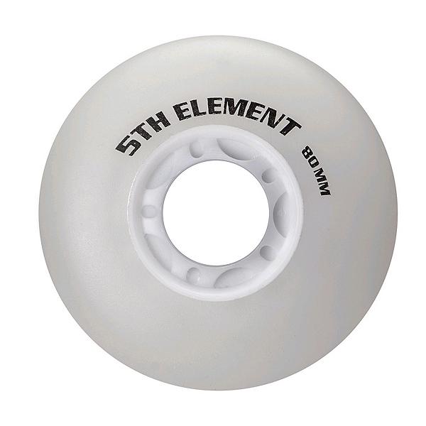 5th Element 80mm Light Up Inline Skate Wheels - 8 Pack, Red Light, 600