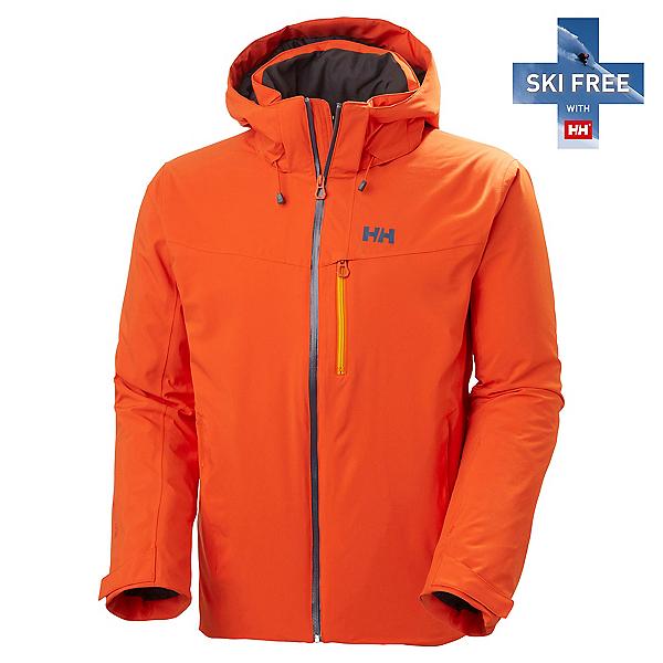 Helly Hansen Swift 4.0 Mens Insulated Ski Jacket, Patrol Orange, 600