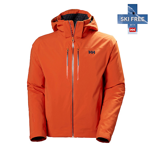 Helly Hansen Alpha LifaLoft Mens Insulated Ski Jacket 2022, Patrol Orange, 600