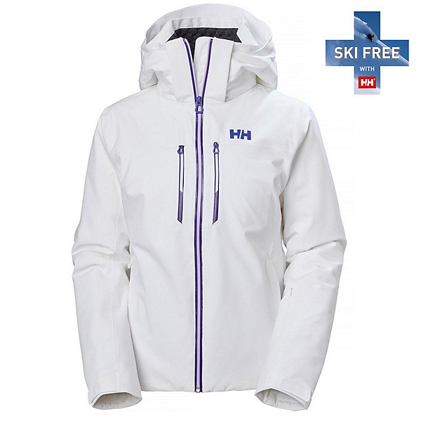 Helly Hansen Alphelia Lifaloft Womens Insulated Ski Jacket, White, 600
