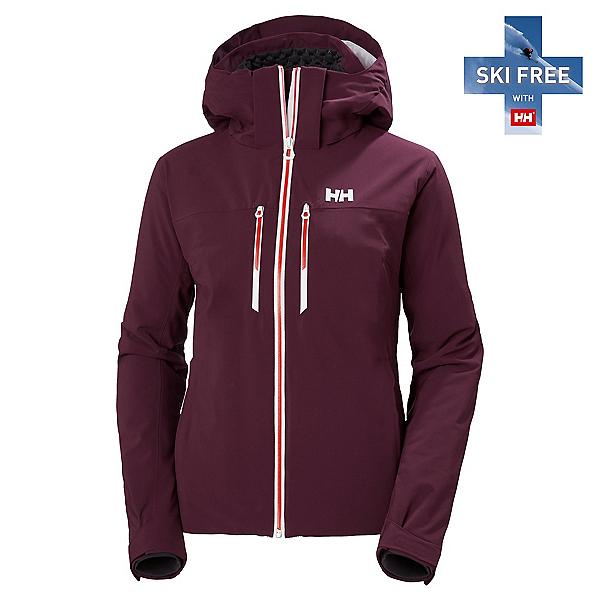 Helly Hansen Alphelia Lifaloft Womens Insulated Ski Jacket, Wild Rose, 600